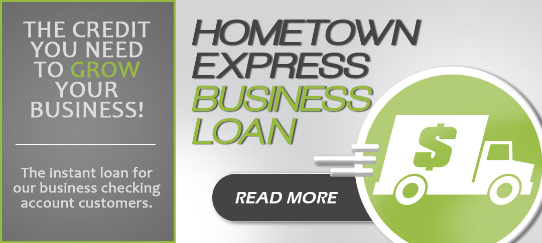 The Hometown Express Business Loan. Click to read more!