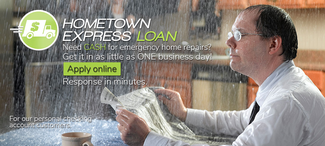 Hometown Express Loan. Apply online. Response in minutes. Click to learn more.