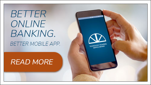 Better online banking. Better mobile app. Image button to online banking.