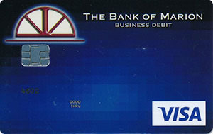 Blue pixel business debit card design