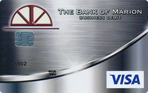 Silver business debit card design