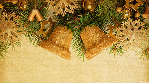 Christmas Bells on Sepia Background