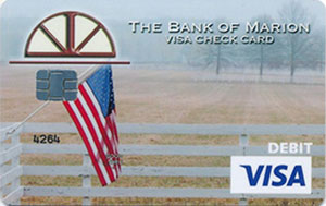 American Flag with field debit card design