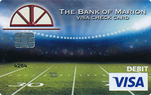 Football theme debit card design