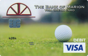 Golf theme debit card design