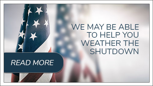 We may be able to help you weather the shutdown