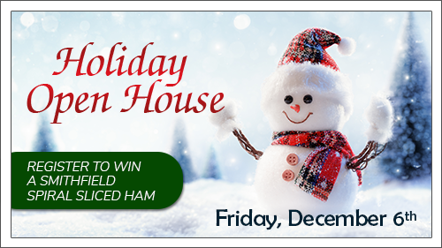 Please join us for our Holiday Open house December 6. Click to read more.