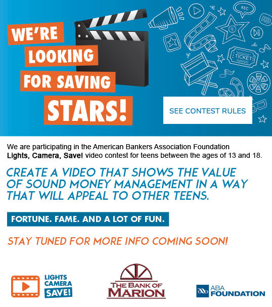 Lights Camera Save! Video Contest for Teens
