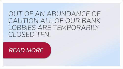 Out of an abundance of caution all of our bank lobbies are temporarily closed today TFN.. Read more.