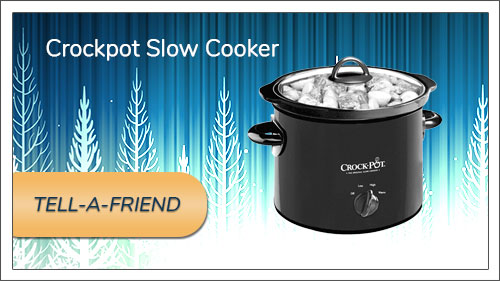 Image button to tell-a-friend form. Picture of a Crock pot