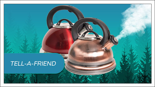 Image button to tell-a-friend form. Picture of an Imperial Whistling Kettle