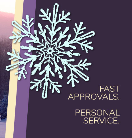 Fast approvals. Personal Service.